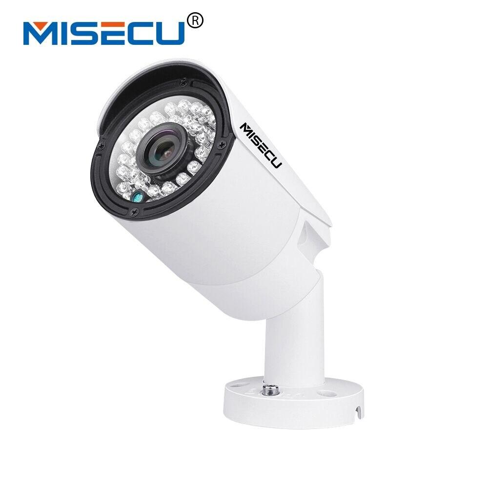 MISECU 4.0MP H.265/H.264 48 v POE Hi3516D OV4689 IP Caméra Métal large dynamique 1 RS485 ONVIF 2592*1520 P2P 36 IR Nuit Voir E-mail