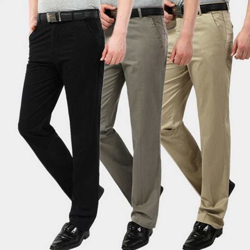 Xmywx Men Brand Fashion Leisure Business Thin Cotton Trousers Office Traveling Pants Work Khaki In Cargo From S