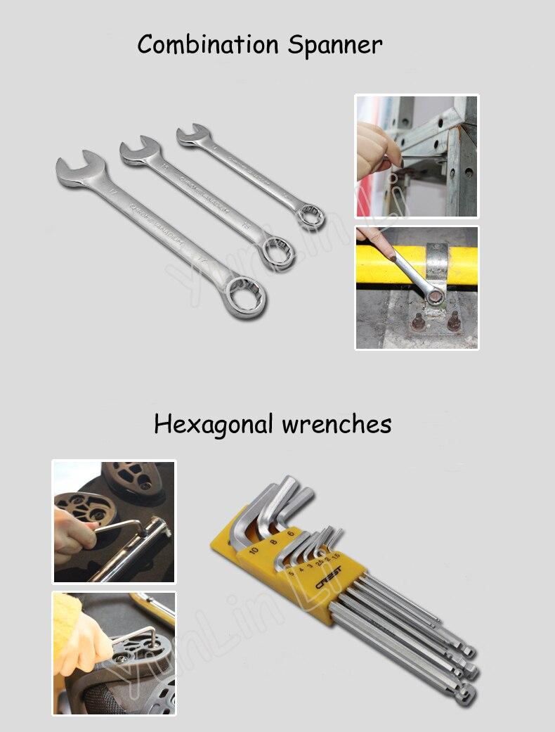 Conjunto de herramientas multifunción de mantenimiento doméstico, combinación de herramientas, destornillador, cuchillo, herramienta con caja de herramientas de laminación 105255 - 5
