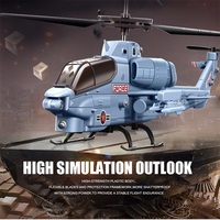 3CH Simulatie Cobra Fighter Indoor Grijs RC Helicopter Radio Afstandsbediening Model Militaire SYMA S108G Mini Simulatie Leger Speelgoed