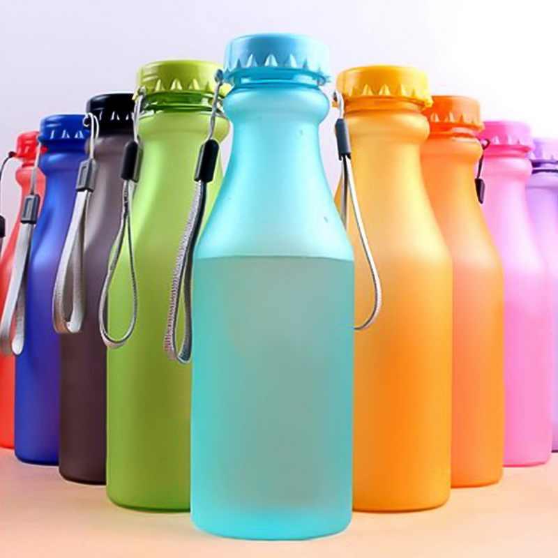 Hoomall Inquebrável Garrafa de Água Esportes 550 ml Garrafas De Plástico Para A Água Para Crianças Portátil À Prova de Vazamento-Yoga Ginásio de Fitness chaleira