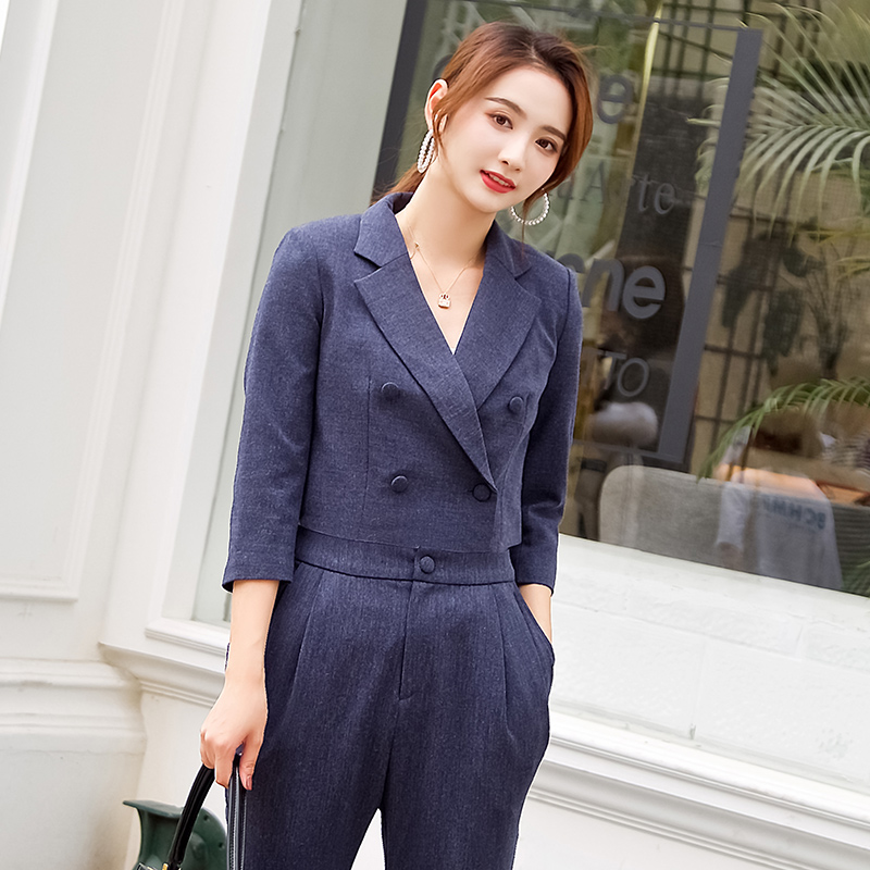 Dabuwawa Short Small Suit Female Fashion Handsome Suit Jacket Office Lady Notched Blazers Tops 2019 #D18ASB002