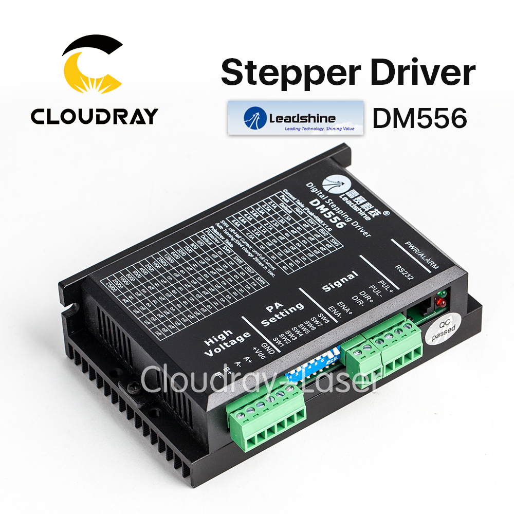Cloudray Leadshine 2 Phase Stepper Driver DM556 0.5-5.6A DC 20-45V cloudray stepper motor driver 2 leadshine phase dc motor driver controller for 20 50 vdc 1 0 4 2a cnc router kits drive dm542