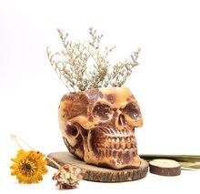 silicone concrete mold 3d vase molds cement flower pots Skull Round flowerpot multi-meat flower planter mold home decorations