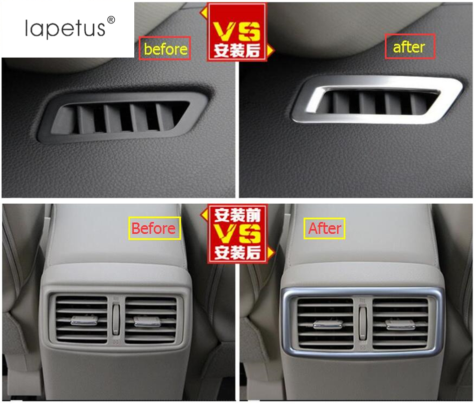 2 Color ! Accessories For Nissan X-Trail X Trail T32 Rogue 2017 2018 Front & Rear Air Condition AC Outlet Vent Cover Trim 3 Pcs
