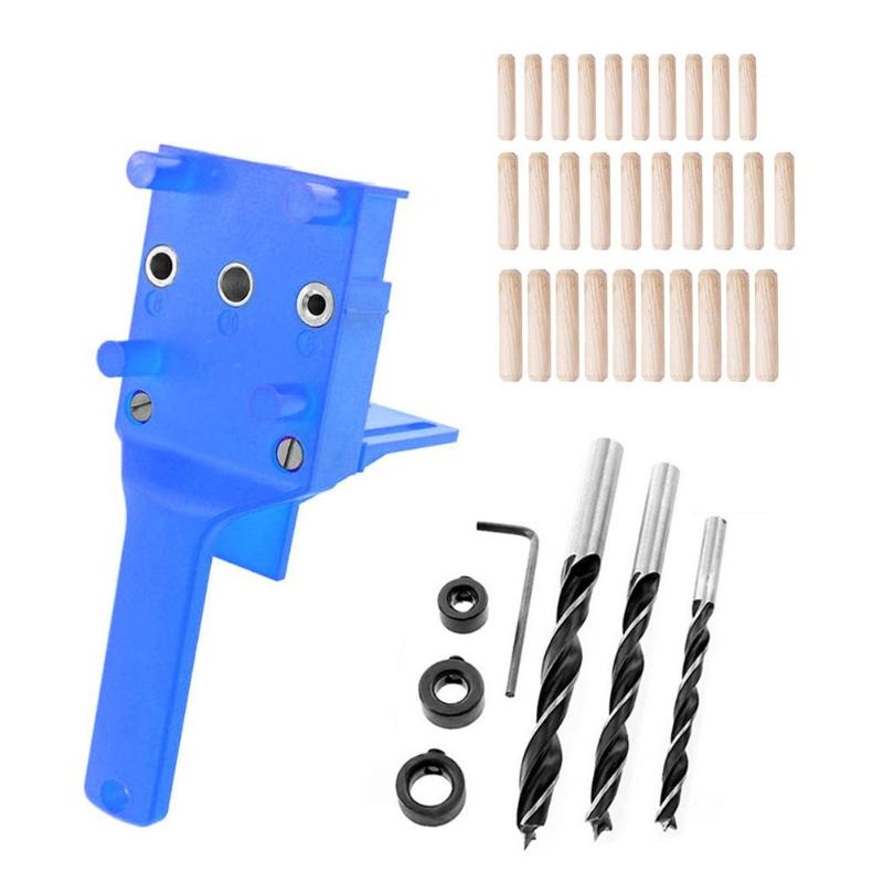 Pocket Hole Jig Kit Angle Drill Guide Set Hole Puncher Locator Jig Drill Bit Set For DIY Woodworking Carpentry Tools
