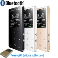 Original Metal touch screen Bluetooth MP3 Player 8GB Built in Loud Speaker mini Music Player with FM Radio Voice Recorder E book