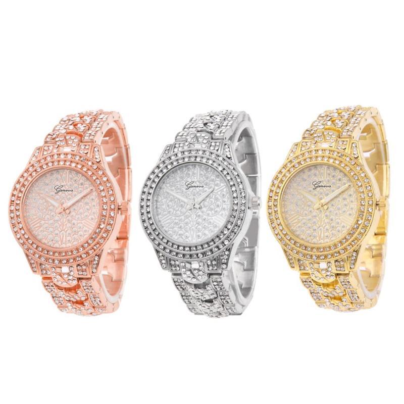 New Luxury Brand Fashion Casual Ladies Watch Women Rhinestone Small Dial Stainless Steel Watches Dress Quartz Female Clock стоимость