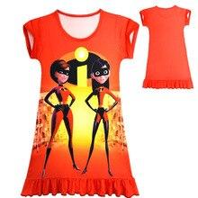 ФОТО baby girl dress summer soft super girls cartoon nightgown kids party dresses night gown pajamas dress sleepwear pyjamas clothes