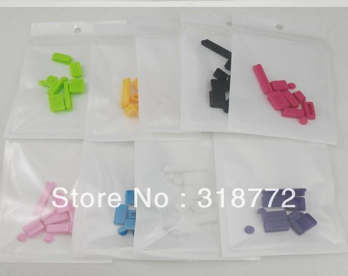 HRH Wholesale 10set/lot Silicone Data Port Anti Dustproof Plug For Apple Macbook Pro dust plug Stopper Cover Set For Laptop