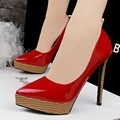 Fashion wood grain women high heel shoes women pumps pointed toe platform wedding shoes pumps 12.5cm B9266-2