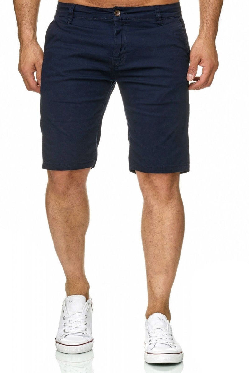 2d9b55daae Fashion Summer Men's Slim Fit Casual Cotton Shorts Solid Color Short ...