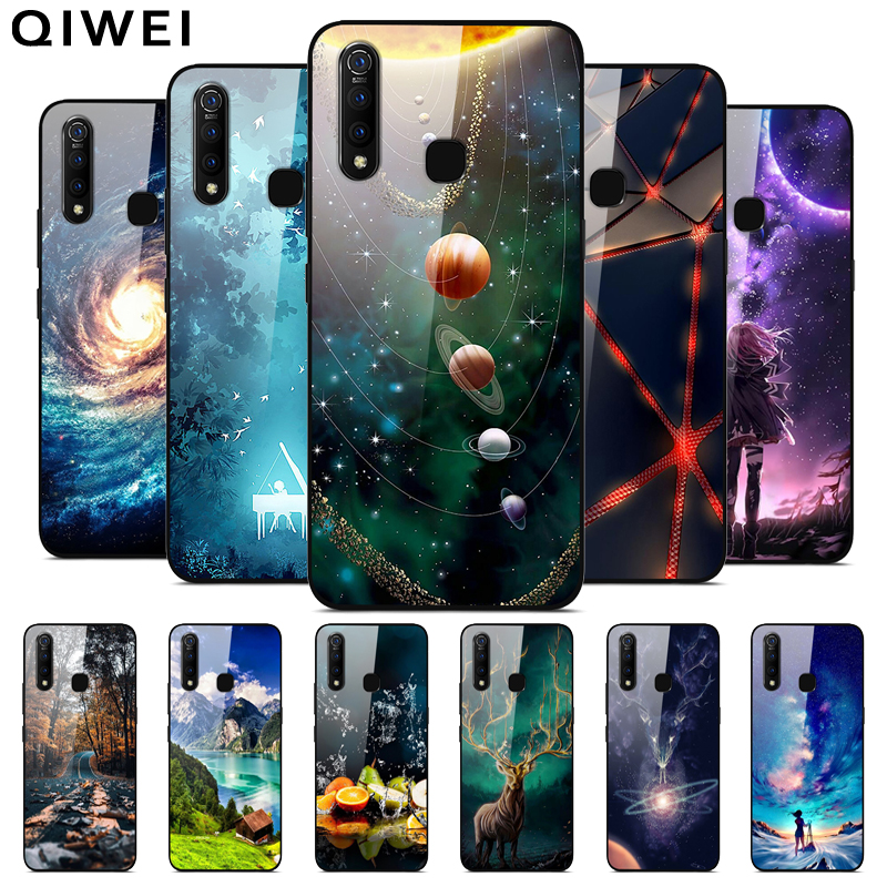 For Vivo Z1 Pro Case 6.53'' Silicon Bumper Hard PC Back Cover Case For Vivo Z1 Pro Z1Pro 2019 Z 1 Pro Tempered Glass Phone Cases