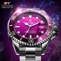 Hot Tevise Men Mechanical Watch Automatic Date Fashion Luxury Submariner Clock Male Role Sport Business Clock