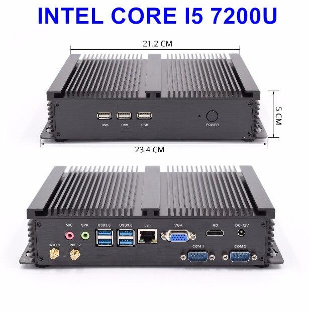 Barebone Core I5 7200u Mini Pc I5 Windows Linux Ubuntu All Compatible Minipc Windows 7 Industrial Fanless Design Pc Mini Size I5