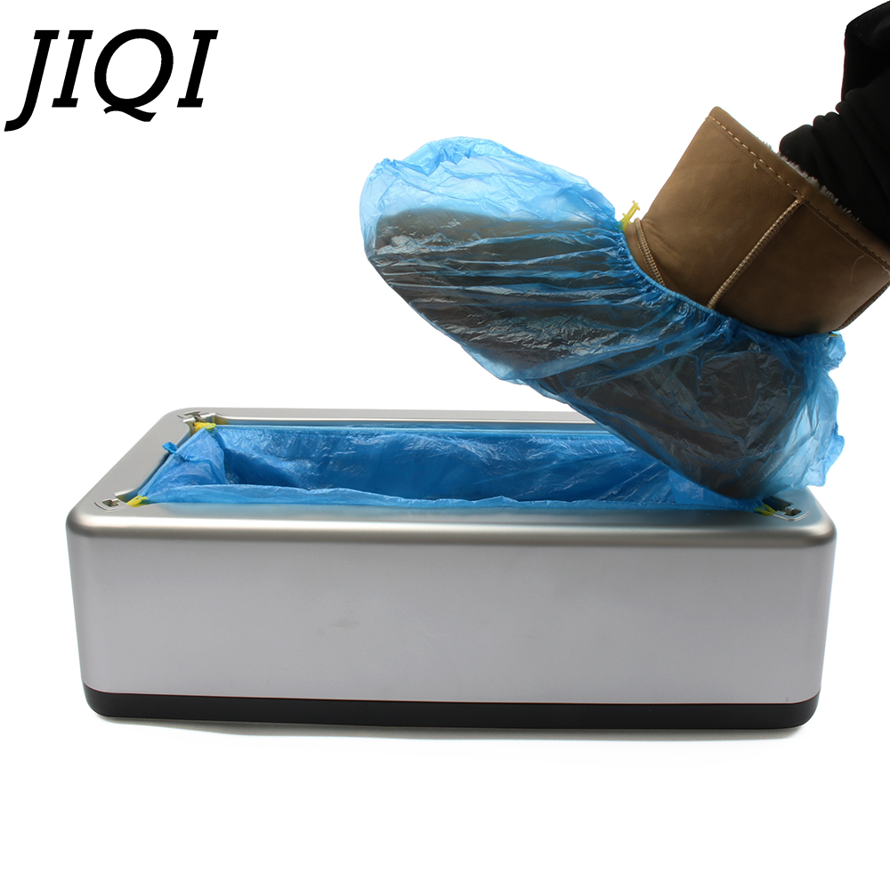 JIQI Automatic Shoe Covers Machine Home Office One-time Film Equipment Foot Set With 200pcs Shoes Cover automatic shoe cover machine for domestic office full automatic shoe cover device foot towel tool free with covers