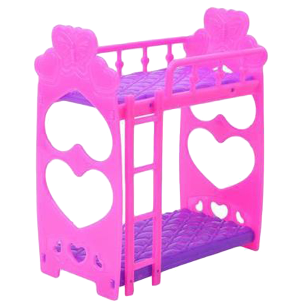 3 5 Inch Dolls House Furniture Doll Bunkbed Bunk Beds With Ladder Plastic Pretended Toys Toy Gift For Kids Doll House Accessorie Kitchen Toys Aliexpress