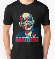 New 2016 Brand Fashion Summer Men S Casual And Cotton Man IRON MAIDEN PRESIDEN EDDIE T
