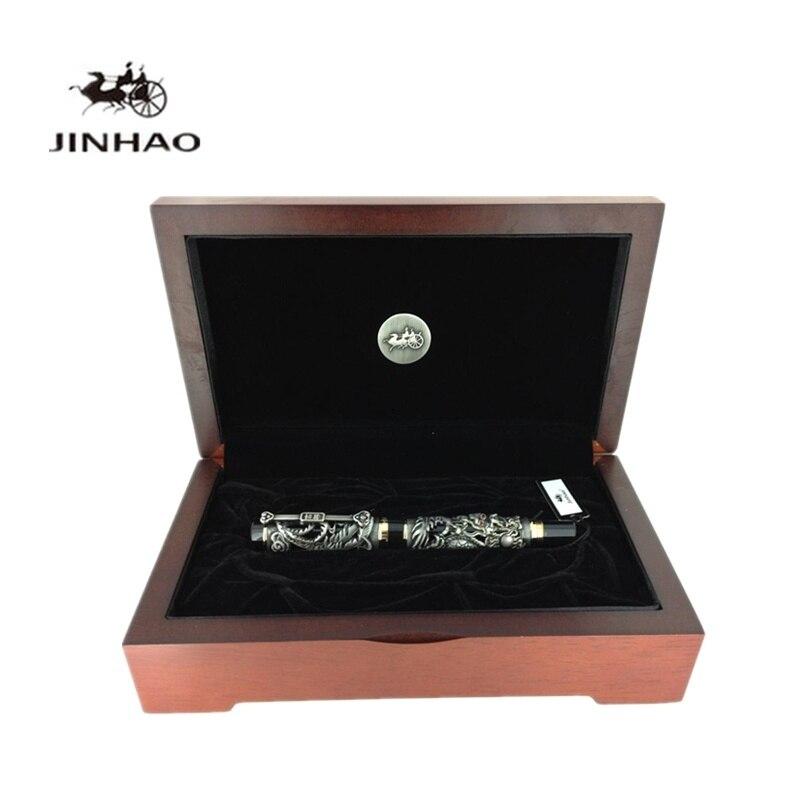 Jinhao Dragon Phoenix Pattern Medium Nib Heavy Fountain Pen with Original Box Free Shipping