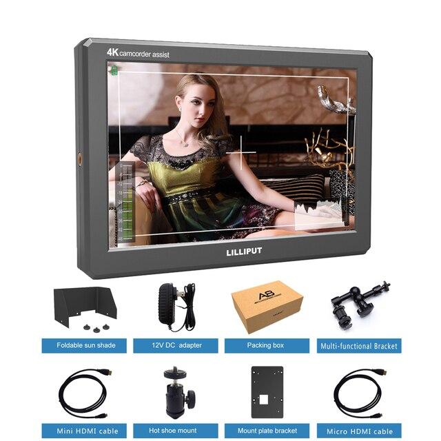 Lilliput A8 8.9 pouces Utra Slim IPS Full HD 1920x1200 4K HDMI 3D LUT moniteur de champ vidéo sur caméra pour caméra reflex numérique vidéo