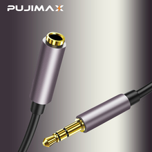 все цены на PUJIMAX 3.5mm jack audio cable for iphone Samsung 3.5mm male to Female Car Auxiliary Audio Stereo Cable MP3/MP4 Speaker aux cord онлайн