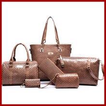 2015 de europa y américa marca mujeres bolso de cocodrilo patrón de bolso bolso + bolso del mensajero + rse + Wallet 6 sets