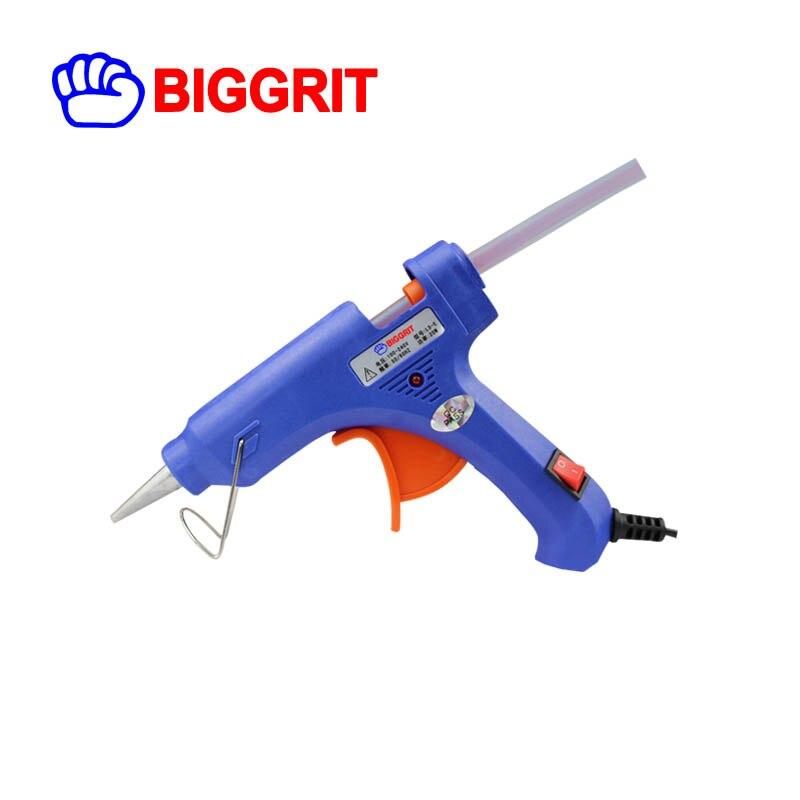 UE Plug 20 W Thermofusible Pistolet À Colle avec 7mm Bâton de Colle Industrielle Mini Canons Thermo Électrique Chaleur Température outil