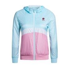 Xtep deporte chaquetas o-cuello de la cremallera de las mujeres cazadora de secado rápido luz del sol ropa de fitness atlético deportes trajes 985128120638