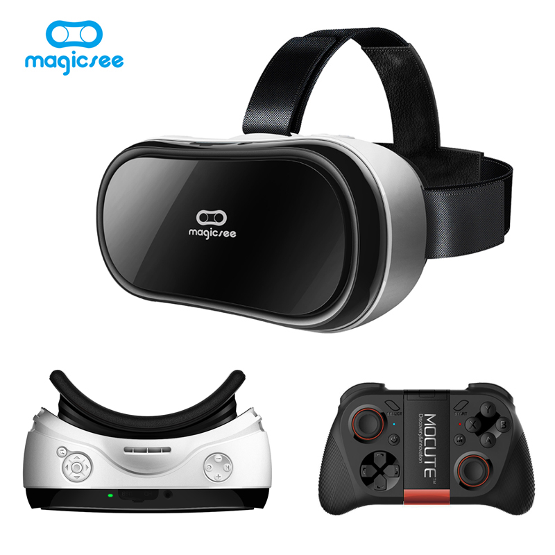 Magicsee M1 All in One VR BOX Headset Wi-fi VR 3D Glasses Virtual Reality 1920*1080 5.5' TFT Screen/Android 5.1/2G RAM + Gamepad