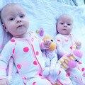 Otoño de Algodón de Moda Del Bebé del mameluco mamelucos del mono de manga larga con cremallera de Una sola pieza trajes de pijamas bebé toodler