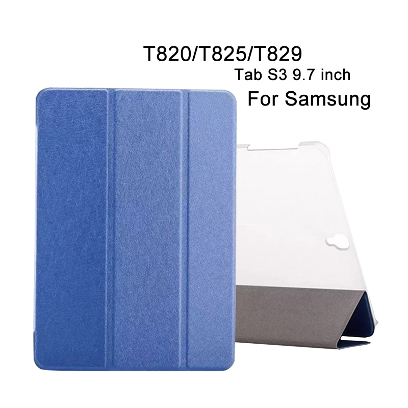 Leather Case For Samsung Galaxy Tab S3 9.7 Tablet Cover Ultra-thin transparent bracket For Samsung SM-T820 T825 T829 Tablet case