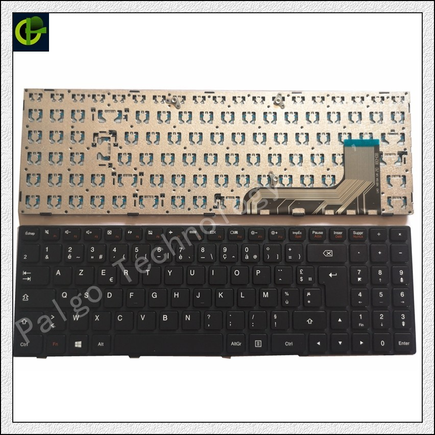 French Azerty Keyboard for <font><b>Lenovo</b></font> Ideapad 100-15 100-15IBY 100-15IB <font><b>B50</b></font>-<font><b>10</b></font> PK131ER1A05 5N20h52634 9z.NCLSN.00R NANO NSK-BR0SN FR image