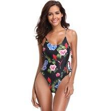 цена на Swimsuit One-Piece Swimwear 2019 Mujer Sexy Swimsuit Women Print Push Up Monokini Bathing Suits Beachwear Maillot de Bain Femme