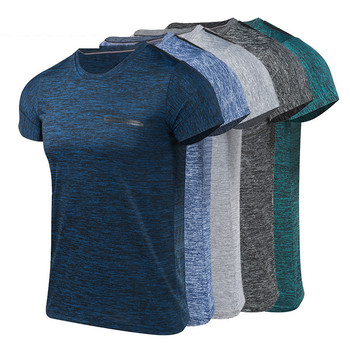 Sports men's clothing running fitness Men's Summer Casual O-Neck T-shirt Fitness Sport Fast-Dry Breathable Top Blouse outdoor Running T-Shirts
