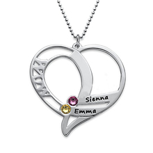 Love Heart Necklace Fashion Custom Any Names Best Wedding Anniversary Birthstone Jewelry Welcome Dropshipping YP2998