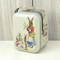 Vivid Peter Rabbit Tote Tin Box Jewelry Box Storage Organizer Case Iron Box Candy Container Gift