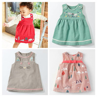 New 2017 Brand Quality Corduroy Cotton Baby Girls Dress Long Sleeve Children Clothing Baby Girl Clothes