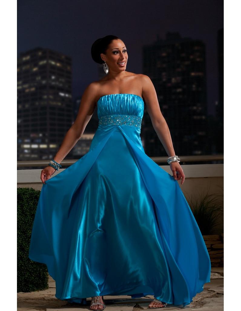 Новый дизайн на заказ большие размеры Длинные Элегантные Выпускные платья а силуэта без бретелек и расшитый бисером Ruched королевские синие