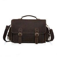 Genuine Leather Men Bags Fashion Brand Designer Handbags Shoulder Vintage Retro Cow Bags Men Messenger Bags