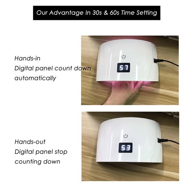 Clou Beaute 36W LED/UV 30s 60s Timer Nail Lamp Infrared Sensing US/EU/UK Plug Gel Nail Polish Dryer Manicure Lamp UV LED Dryer 5