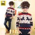 Arropa el suéter suéter niño otoño e invierno de los niños niño de manga larga del suéter de los muchachos engrosamiento básica del o-cuello