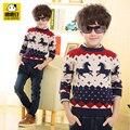 Camisola criança outono e inverno das crianças vestuário camisola criança da longo-luva camisola meninos camisola espessamento básico o-pescoço