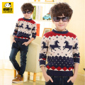 Child sweater autumn and winter children's clothing sweater child long-sleeve sweater boys sweater thickening basic o-neck