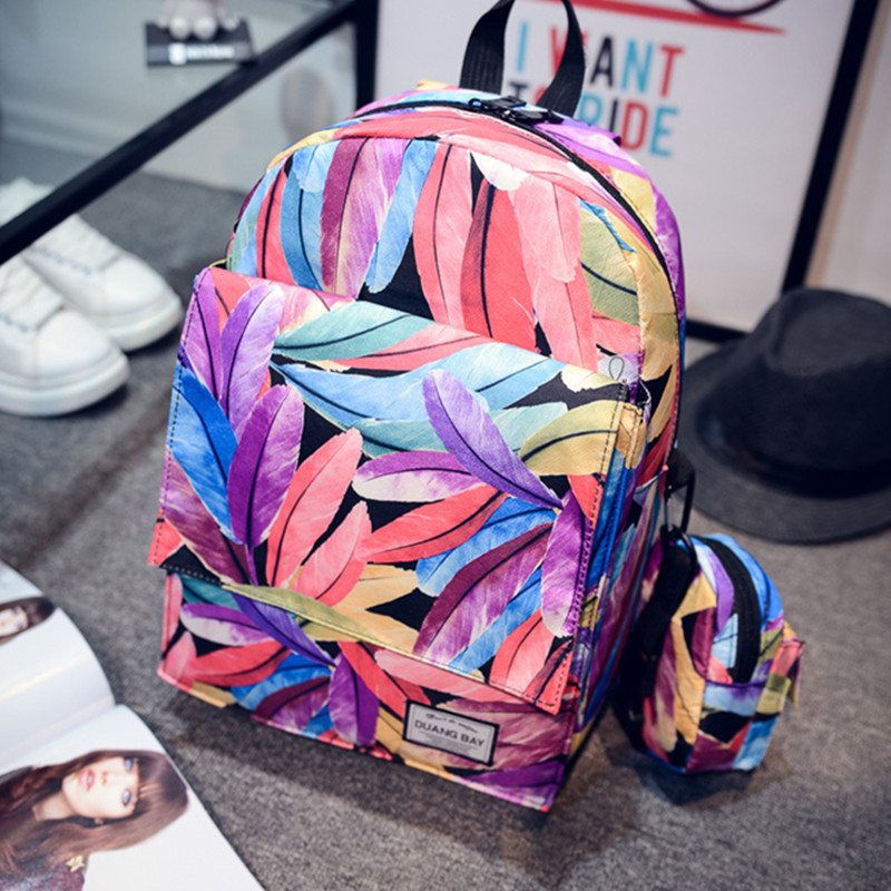Printing Backpack Women s Canvas Backpacks Travel Floral Backpack For Middle School Girls School Bags Backpack