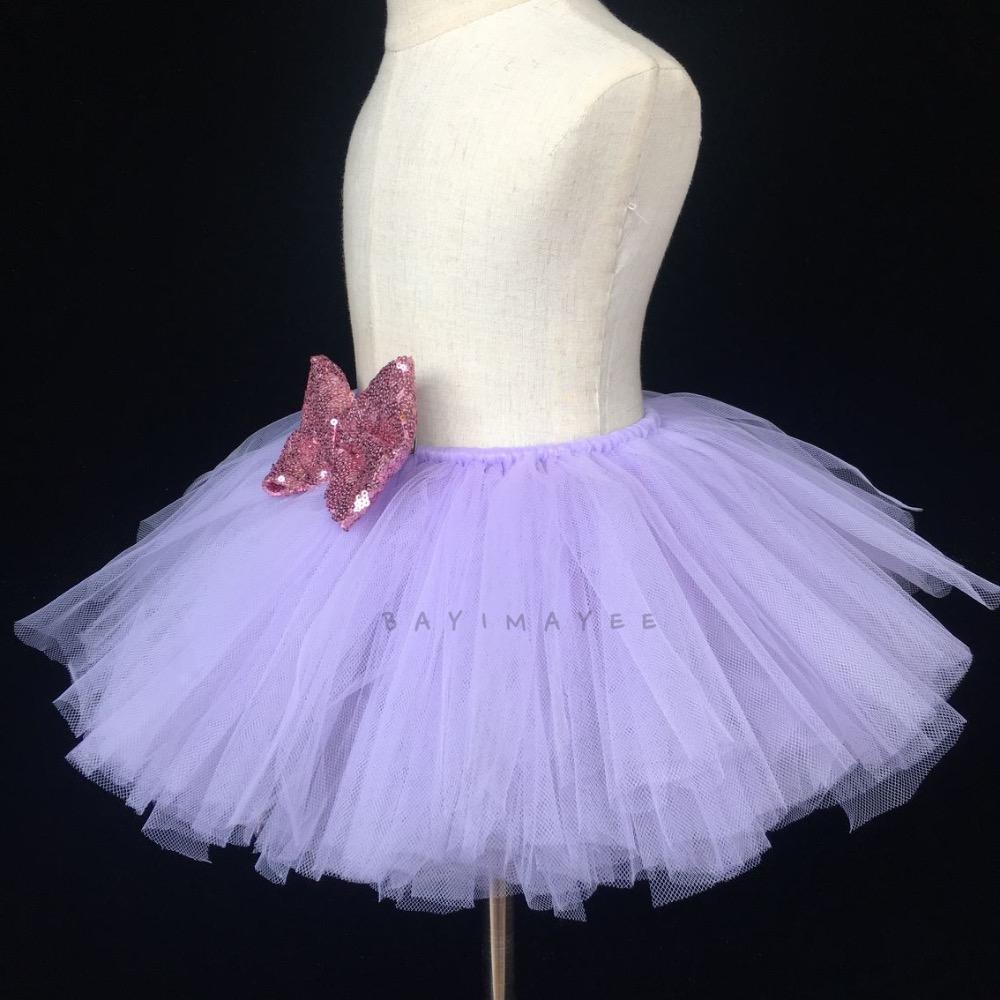 6e034bfd4dcb Girls Purple Tutu Skirt Baby Fluffy Tulle Skirt Birthday Party Skirt ...