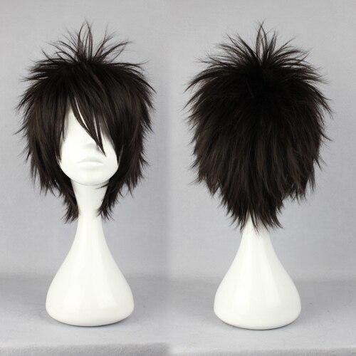 MCOSER Promotion Halloween Naruto Momochi Zabuza Classical Asia Black 30cm Short Man Cosplay Synthetic Wig