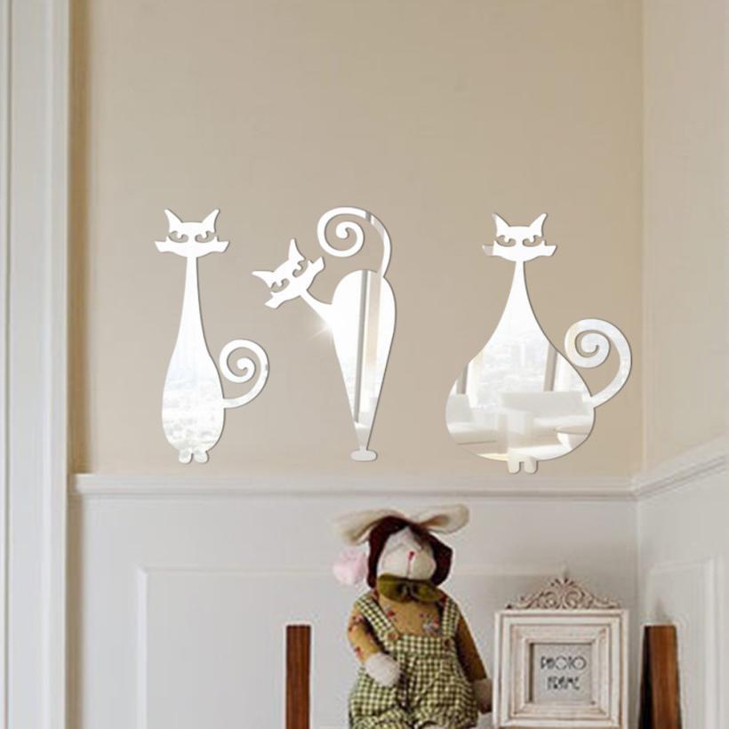 espejo decorativo de la pared pegatinas dormitorio de acrlico adhesivo espejo decorativo espejo de pared decoraci