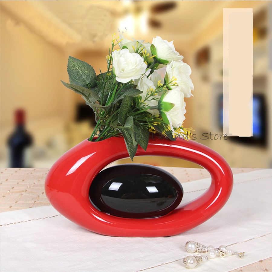 Creative Arts Ceramic Vase Modern Home Decoration furnishings Simple Living Room Ceramic Crafts Vase