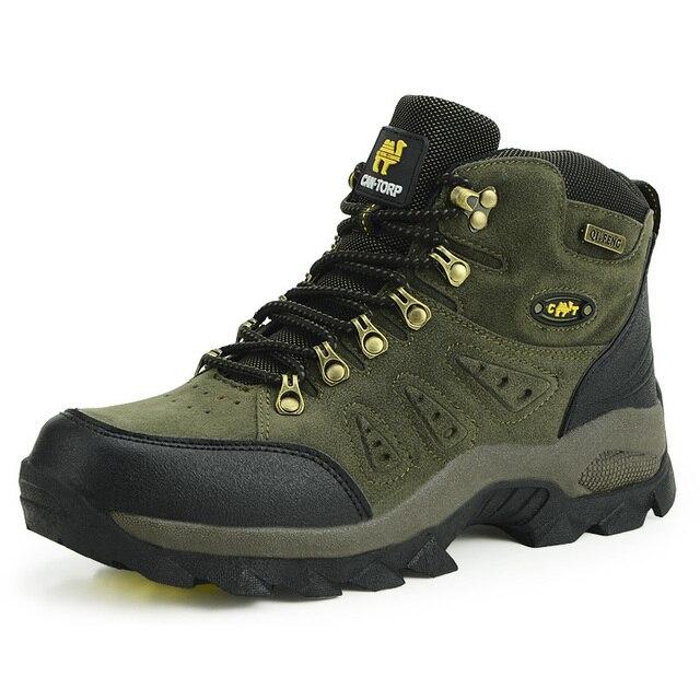 Unisex Sepatu Hiking Trekking Sepatu Pria Wanita Tinggi Atas Sepatu Gunung  Sepatu Mendaki Gunung anti- f663489f87