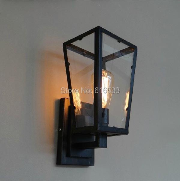 moderne vintage nostalgique antique pays damrique loft lustre bote de verre applique industrielle pour salle de bains home de - Appliques Vintage Industrielles Pour Salle De Bain